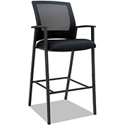 ES Series Mesh Stack Stools Black 2 Pack
