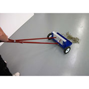 """AMK Magnetics Lever Release Magnetic Sweeper - 14""""W"""
