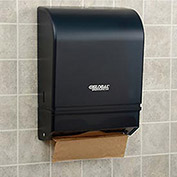 Plastic C-Fold/Multi-Fold Paper Towel Dispenser, 350 C-Fold/540 Multi-Fold, Smoke Gray