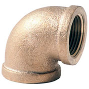 "1-1/2"" Lead Free Brass 90 Degree Elbow, FNPT, 125 PSI"