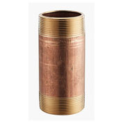 "Merit Brass 3/4"" X 3"" Lead Free Seamless Red Brass Pipe Nipple"