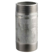 "Merit Brass 1-1/4"" X 6"" 304 Stainless Steel Pipe Nipple"