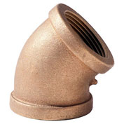 "SIAM 1-1/4"" Lead Free Brass 45 Degree Elbow, FNPT"