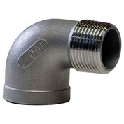 "KINGDOM 1-1/4"" 304 Stainless Steel 90 Degree Street Elbow, MNPT X FNPT"