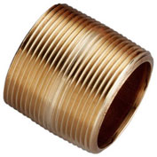 """1-1/2"""" x 1-3/4"""" Lead Free Seamless Red Brass Pipe Nipple, 140 PSI, Sch. 40"""