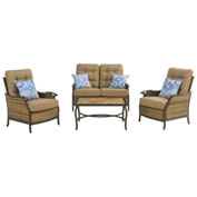 Square 4-Piece Deep-Seating Outdoor Lounge Set