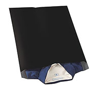 "2.5 Mil Colored Poly Mailers, 14-1/2x19"", Black, 100 Pack"