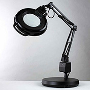 "5-Diopter Lens Fluorescent Magnifier W/Weighted Base, 30"" Reach, 120V, 22W"