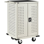 Mobile Storage & Charging Cart, 12 Laptop & Chromebook™ Device Capacity, Putty, Assembled
