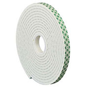 "Double Sided Foam Tape 2"" x 5 Yds 1/4"" Thick Natural 1 Pack - 3M 4004"