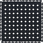 "Comfort Flow HD Modular Anti-Fatigue Tile w/Grit, Middle, Black, 18"" x 18"""