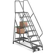 EGA P005 Stock Picking Ladder 10-Step, Perforated, Gray, 450Lb. Capacity