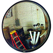 "160-Degree Stainless Steel Convex Mirror W/Stainless Steel Back, 42"" Diameter"