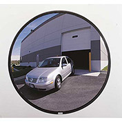 "160-Degree Outdoor Acrylic Convex Mirror W/Stainless Steel Back, 26"" Dia."