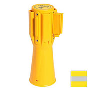 Queue Solutions ConePro 500 Yellow Traffic Cone Mount Retracting Belt 10' Yellow/Reflective Stripe