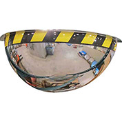 "Acrylic Half Dome Mirror with Safety Border, 36"" Diameter"