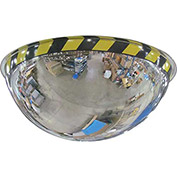 "Acrylic Full Dome Mirror with Safety Border, 30"" Diameter"