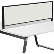 """Magnetic Whiteboard Partition, 55""""W x 16""""H"""