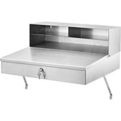 "Wall Mounted Receiving Desk,Stainless Steel, 24""Wx22""Dx12""H"