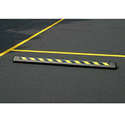 "EAGLE Poly Parking Stop - 72""Wx8""Dx4""H - Black with yellow"