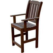 Synthetic Wood Lehigh Counter Height Dining Chair With Arms, Weathered Acorn