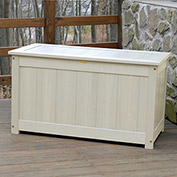 "Highwood® Deck & Patio Storage Box, 44""L x 24-15/16""W x 25-13/16""H Whitewash"