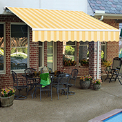 "Awntech Retractable Awning Manual 16'W x 10'D x 10""H Almond"