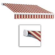 """Awntech Retractable Awning Right Motor 8'W x 7'D x 10""""H Burgundy/White"""