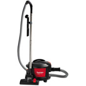 "Sanitaire® Quiet Clean Canister Vac 11"" Cleaning Width, Red/Black"