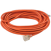 50 Ft. Outdoor Extension Cord w/ Lighted Plug, 16/3 Ga, 13A, Orange