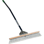 "24"" Duo Broom, 60"" Ergonomic Blue Aluminum Handle"