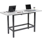 """Charging Table, 72""""W x 30""""D , Laminate, Gray"""
