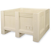 "MACRO PLASTICS MacroBin Material Handling Containers - 47""Wx47""Lx28""H - Ivory"