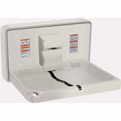 ASI Horizontal Plastic Baby Changing Station, Light Gray