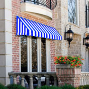"""Awntech Window/Entry Awning 5' 4-1/2""""W x 3'D x 4' 8""""H Bright Blue/White"""