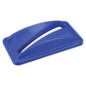 Paper Recycling Lid for Slim Trash Container, Blue