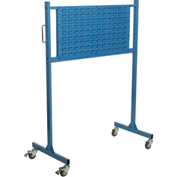 "Mobile Steel Louver Panel Rack, 48"" W, Blue"