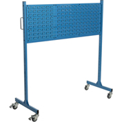 "Mobile Steel Louver Panel Rack, Blue, 60""W"