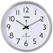"14"" Atomic Wall Clock, Stainless Steel"