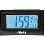 "6-1/3""W Digital Alarm Clock, Indoor Temperature and Humidity Display"