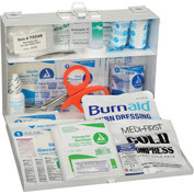 25 Person First Aid Kit, ANSI Compliant, Metal Case
