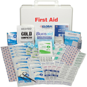 50 Person First Aid Kit, ANSI Compliant, Plastic Case