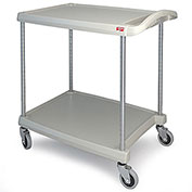 "Metro myCart™ 2-Shelf Utility Cart with Chrome-Plated Posts, Green, 28x23"" Shelves"