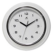"Deluxe Clock, 12-1/2"" Diameter White"