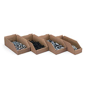 """Oil and Grease-Resistant Corrugated Bins, Brown, 6x12x4"""" - Pkg Qty 33"""
