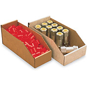"6X24X4-1/2"" No-Spill 32-Lb. Test Bin Boxes, Kraft Corrugated - Pkg Qty 25"