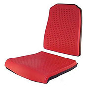 Milagon Aklaim Seat And Back Pads, Red