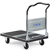 "Steel-Deck Platform Trucks With Folding Handles, 35.4""Lx23.6""W Deck, 8.3"" Deck Height"