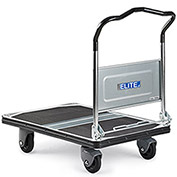 "Steel-Deck Platform Trucks With Folding Handles, 35.4""Lx23.6""W Deck, 8.5"" Deck Height"