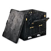 "Orbis Heavy-Duty Collapsible Bulk Containers, Black, 48""Wx45""Lx34""H"